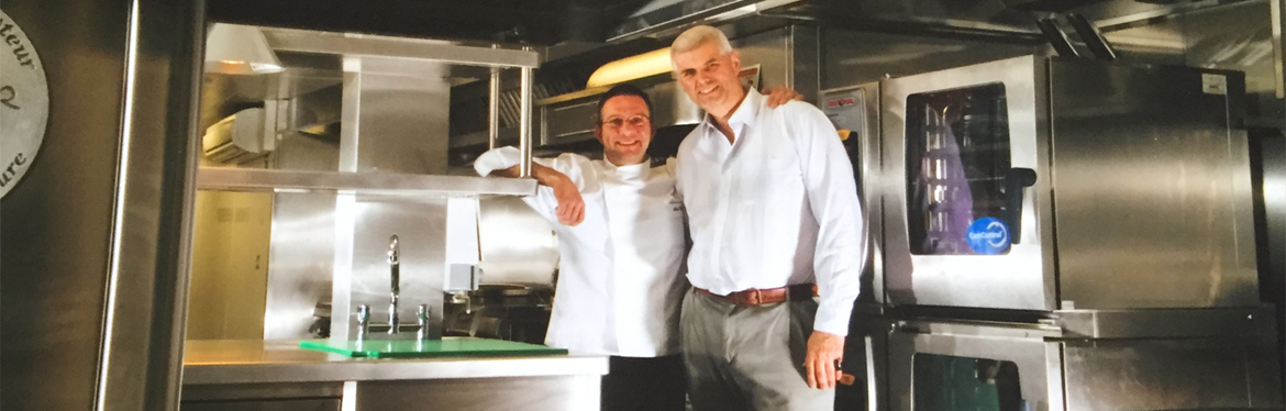 Alain Roux and Charles Parker, Waterside Inn kitchen